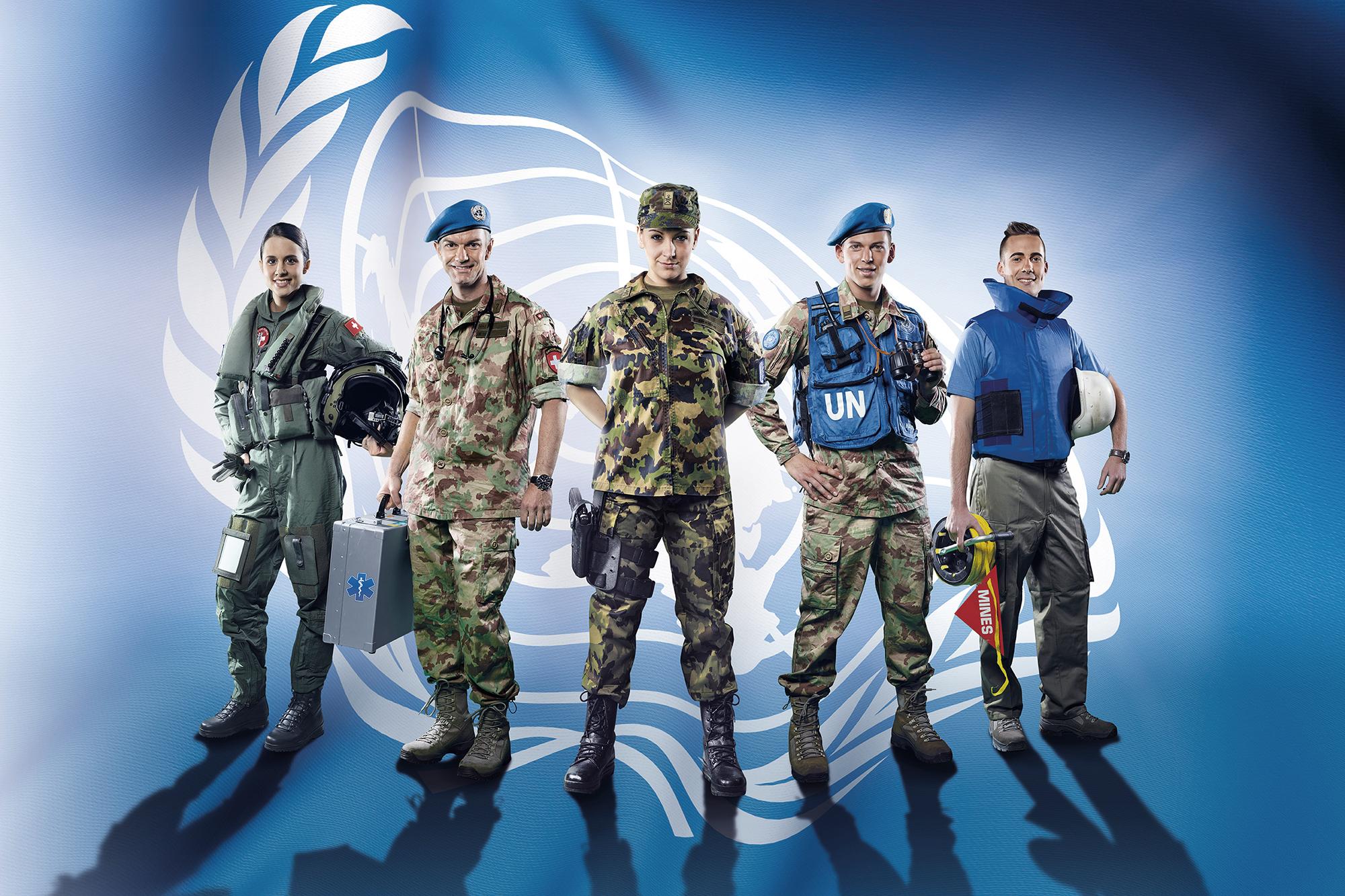 Werbefotografie für die VBS UN-Mission